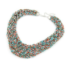 7Color Classic Boho Style Classical Seed beads Collar Necklaces Woman Jewelry FA-2032