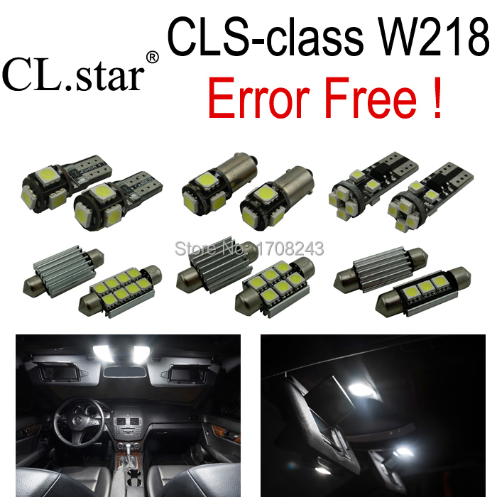 13pc excellent canbus Error free interior LED light kit package for Mercedes Benz CLS-class W218 (2011+) CLS550 CLS63AMG(China (Mainland))