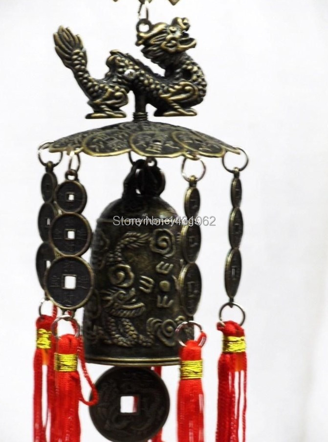 Tibet excellent beautifully carved dragon Buddha bell decoration Wind chimes free shiping Sa-301(China (Mainland))
