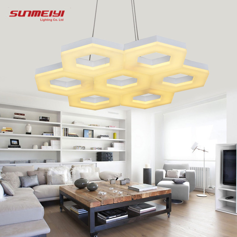 Modern Rings LED Pendant Lights for Living room Dining Room fixtures White Acrylic Circle Pendant Lamp Lustres Lamparas de techo(China (Mainland))