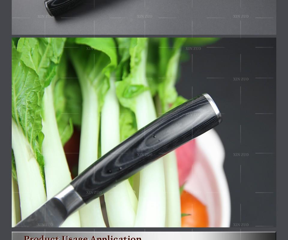 "Buy High quality 5"" Utility knife Japanese VG10 Damascus kitchen knife Multi-purpose Universal knife  Micarta handle FREE SHIPPING cheap"