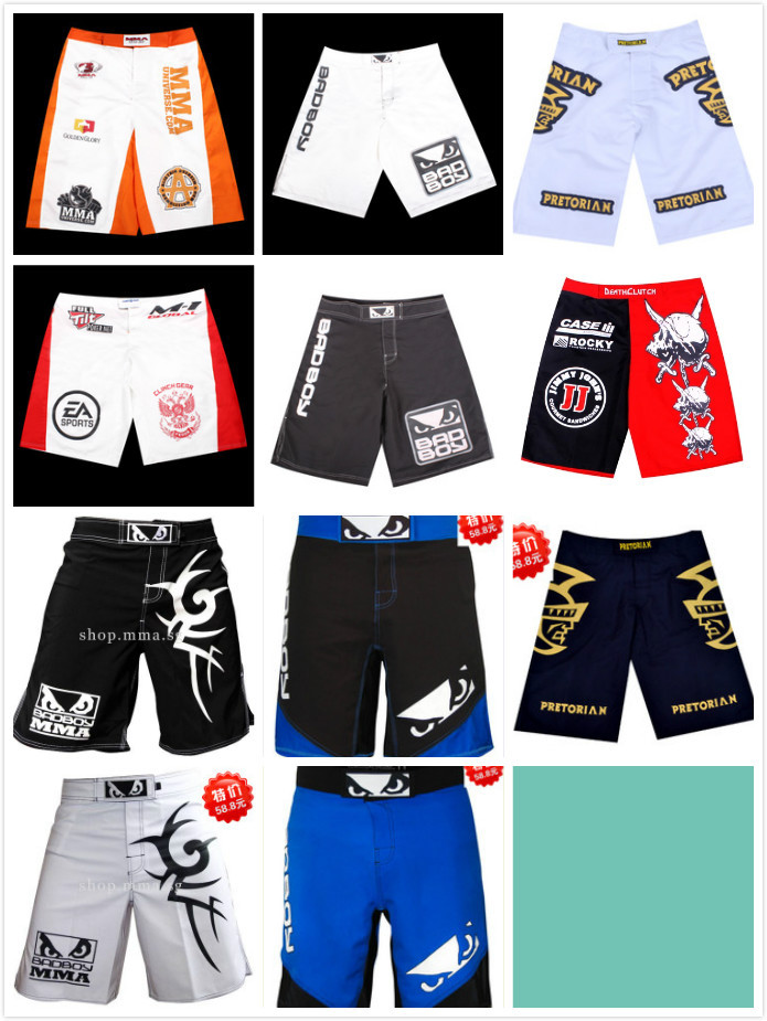 Free Shipping 2014 New MMA Fight Shorts men high fashion Kick boxing shorts Muay Thai shorts men quick-dry shorts plus size XXXL(China (Mainland))