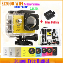 Action Camera Original SJ7000 Wifi 1080P Full HD 2.0 LTPS Diving 30M Waterproof Camera SJ5000 Style Two Batteries