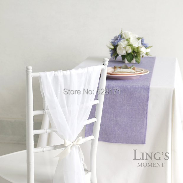 """Free Shipping 10pcs/lot 12"""" W x108"""" L Romantic Fashion Lavender Burlap Linen Table Runners For Wedding Party Table Decoration(China (Mainland))"""