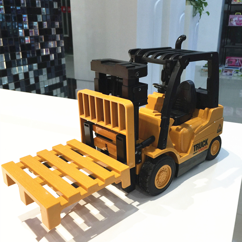 6CH New RC Truck Fork Lift Wireless Remote Control Truck Clasps Car Mechanical Electrical Model Toy Christmas Gift For Kids(China (Mainland))