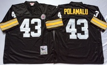 High-quality free shipping #43 Troy Polamalu #33 Merril Hoge #31 Donnie Shell #23 Mike Wagner Greg Throwback Pittsburgh(China (Mainland))