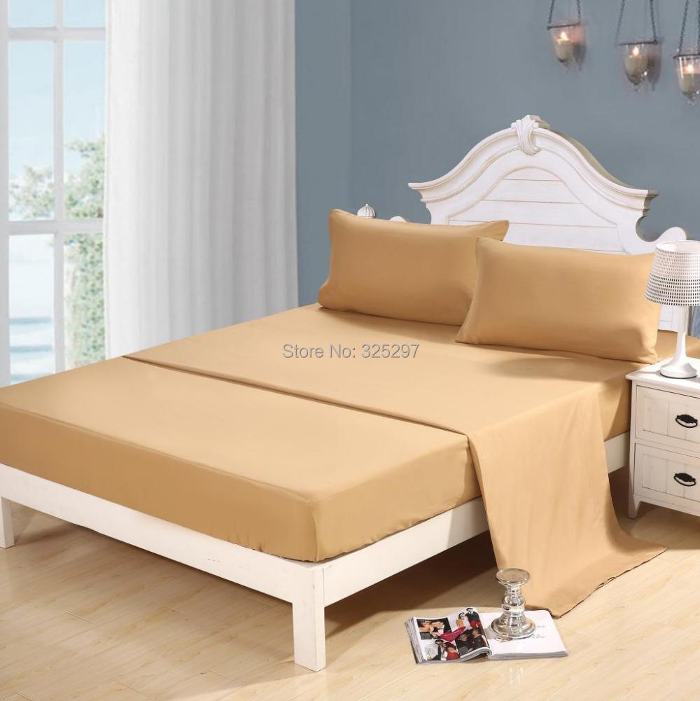 Homehug 100 soft polyester 4pc bed sheet set king size - King size bed sheet set ...