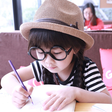 Summer Style Solid Color Baby Girls Fedora Hats Kids Sun Beach Hats For children Top Jazz Caps Free Shipping(China (Mainland))