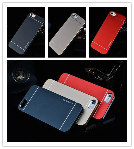 Deluxe Mobile Phone Case For iPhone 5S Aluminum Hard Back +Soft Frame Case For iPhone 5 5S Metal Brush Cover For iPhone 5S Case(China (Mainland))