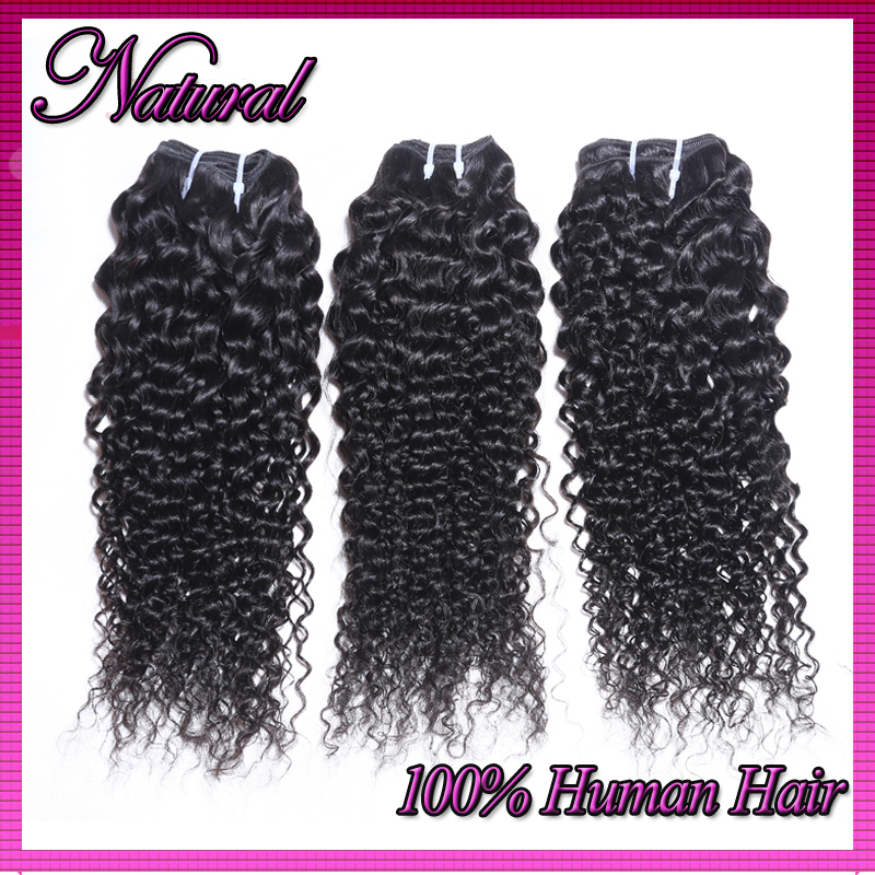 High quality malaysian curly hair 3pcs/lot human hair weave natural black cheap weave online unproccessed 100% malaysian hair(China (Mainland))