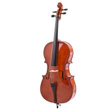 4/4 Full Size Solid Wood Cello Gloss Finish Basswood Face Board with Bow Rosin Carrying Bag for Students Music Lovers(China (Mainland))