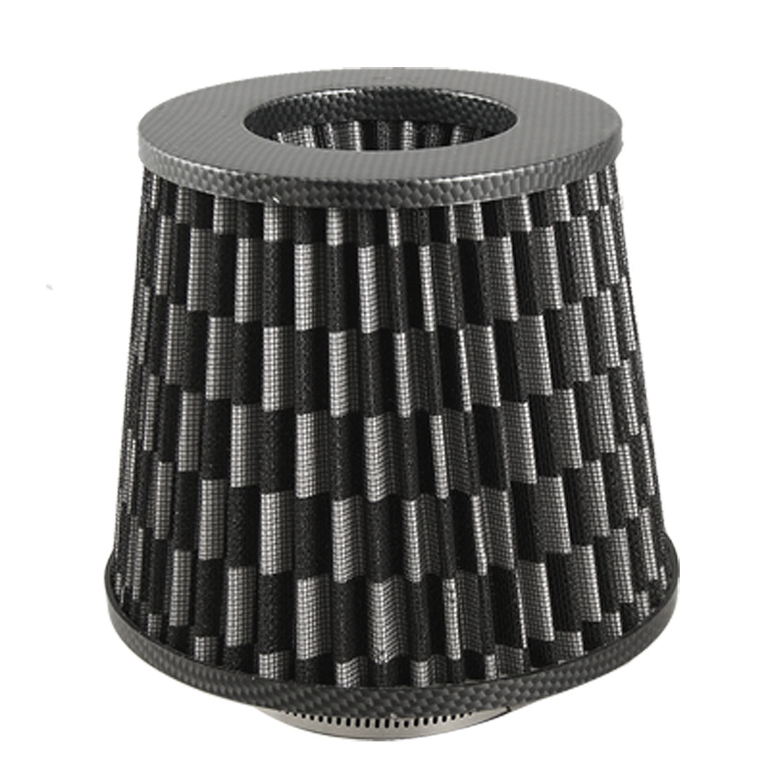 3 Universal High Flow Carbon Fiber Dry Cone Cold Air Intake Filter Black(China (Mainland))