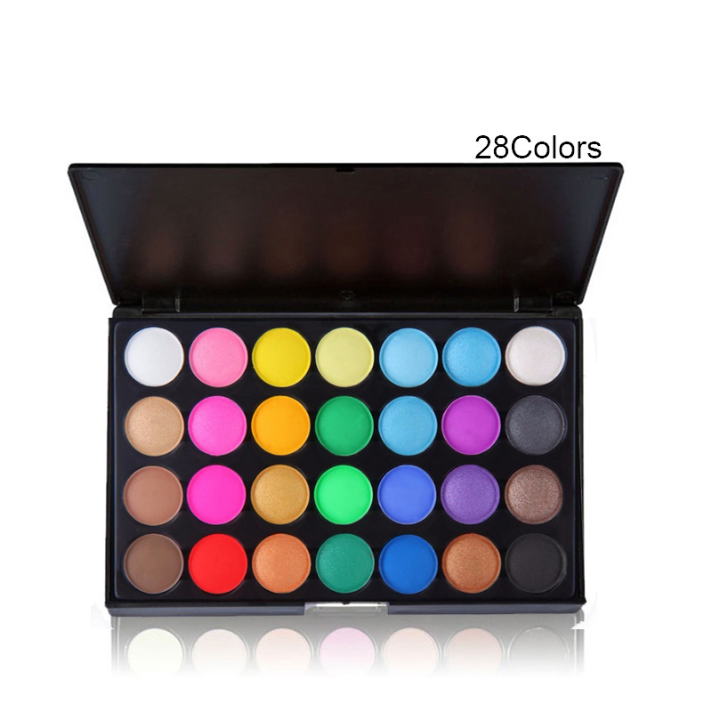 28 Color Professional Natural Matte Eyeshadow Set for Women Make Up Palette Cosmetic Makeup Eye Shadow Palette(China (Mainland))