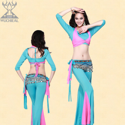 2015 New Free Shopping Bellydance training suit women Practice Clothing Belly Dance Costume Dancewear Top Pants - Ouyilu Fashion Dress Manufactory store