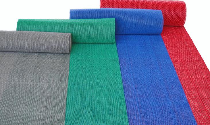 Roll Cutout Mesh Bathroom Waterproof Croppings Plastic Pvc Slip Resistant Mats Carpet Incarpet