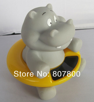 Top quality  30pca/lot Cute Hippo Baby Bath Tub Thermometer Infant Water Temperature Tester Bathing Temperature Toy