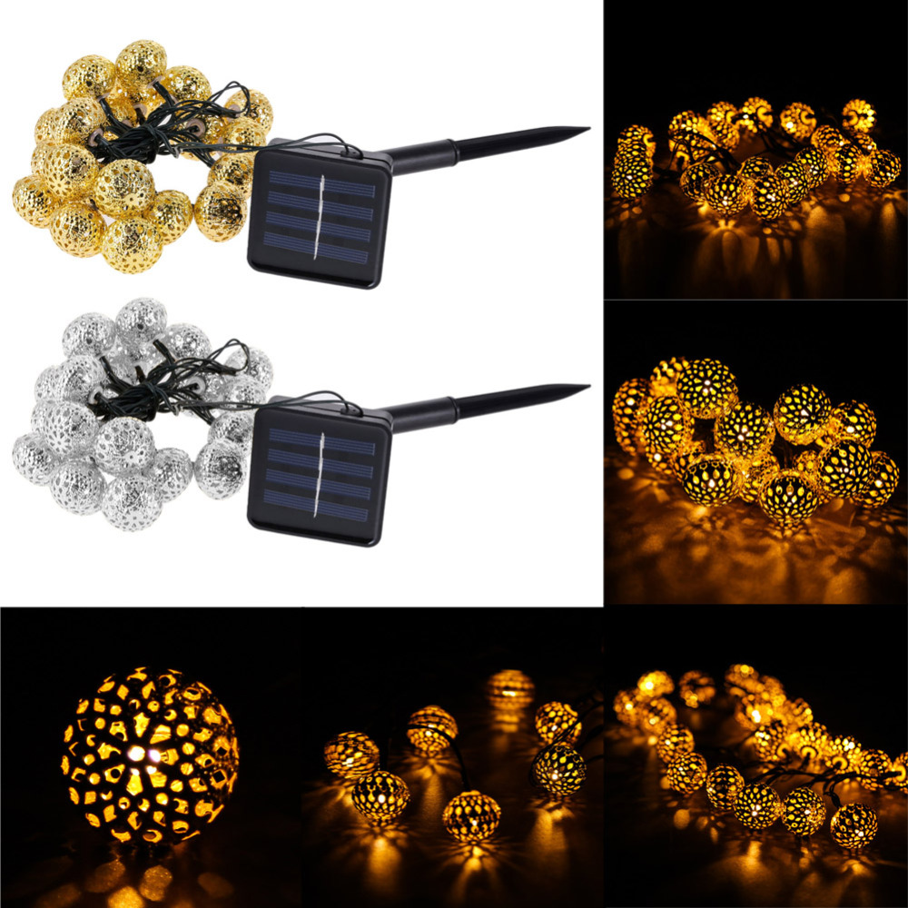 String Lights Big W : Solar Power 20 LED Lights For Christmas Xmas Garden Tree Decorations Waterproof Outdoor String ...