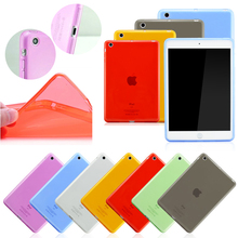 2015 NEW High Quality TPU soft back cover case for ipad air case book cover for ipad air 2 transparent back case for ipad 5 / 6(China (Mainland))