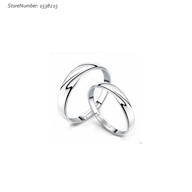 Fashion Lovely Couple Rings 1 Pair 925 Silver Jewelry Finger Rings Weddng Engagement(China (Mainland))