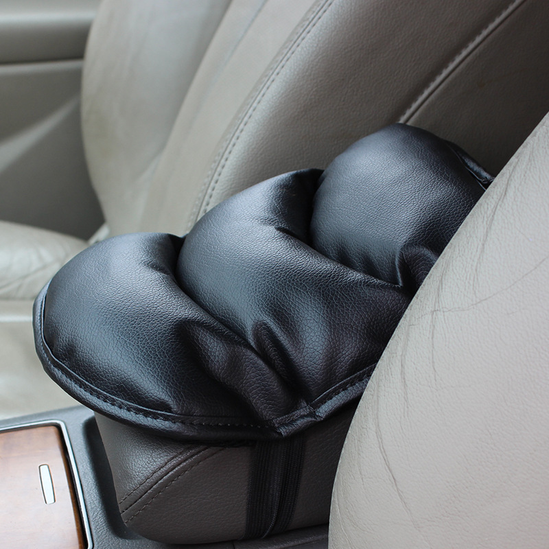 28*20cm Mircofiber leather pp cotton car central armrest pad cushion cover more comfortable driving life(China (Mainland))