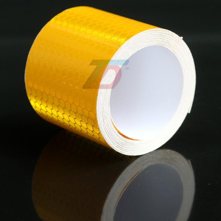 В продаже 5 см x 5 м оранжевый стрелка квадраты марк безопасности светоотражающие ленты наклейки стайлинга автомобилей самоклеящиеся предупреждение ленты высокое видимость