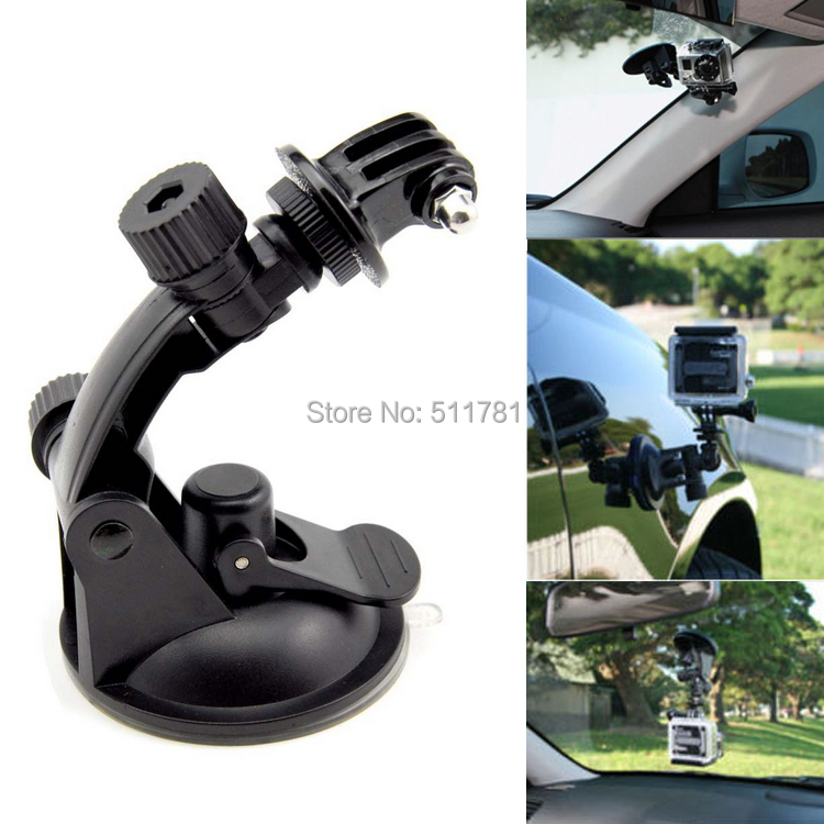 Professional Tripod 360 Degree Rotation Car Suction Cup Mount Camera Stand for Gopro Hero 4 3+ 3 SJ4000 Xiaomi Yi Action Camera(China (Mainland))