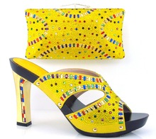 African shoe and bag set high heel italian shoe with matching bag best selling ladies matching shoe and bag italy shoe and bag(China (Mainland))