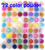72 Pots 6 Kinds Colorful Nail Art Glitter Powder Decoration Crush Shell Bead Free Shipping MF001