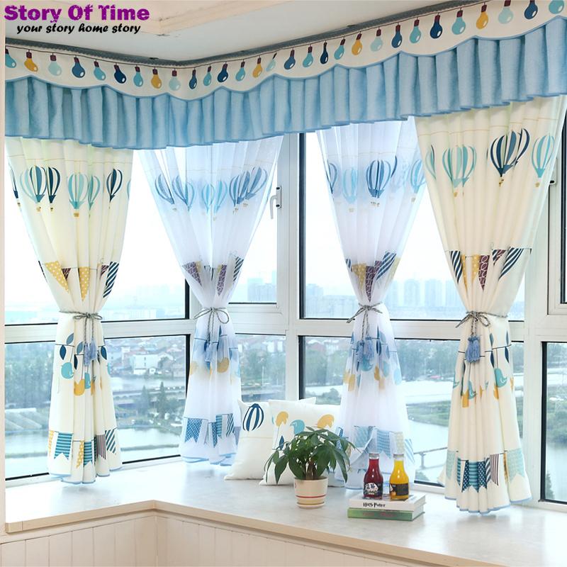Brand New Children curtain Cartoon balloon sitting room curtain drapes insulated blackout curtains 3D window curtain(China (Mainland))