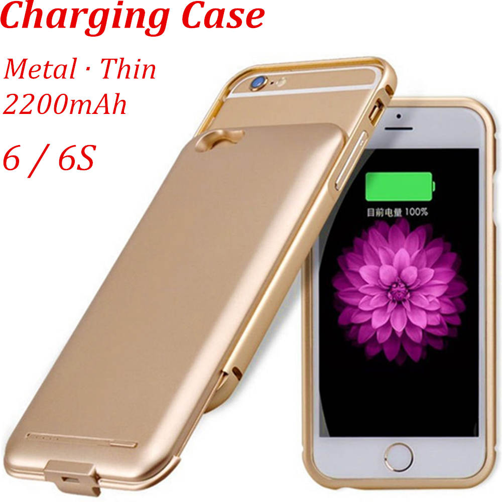 6 S Frame Metal Case Aluminum Bumper Slide Charge Case For iPhone 6 Plus iPhone 6S Charger Case Battery Cover UltraThin Slider(China (Mainland))
