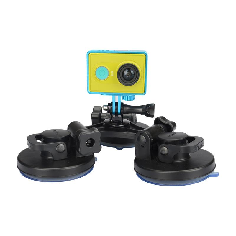 KingMa GoPro Car Suction Cup Adapter Window Glass Tripod Base Mount Hero 2 3 3+ 4 SJ4000 Xiaomi yi Camera Go Pro accessories(China (Mainland))