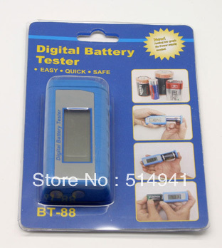 Wholesales Portable Fashion Digital Battery Tester BT-88(China (Mainland))
