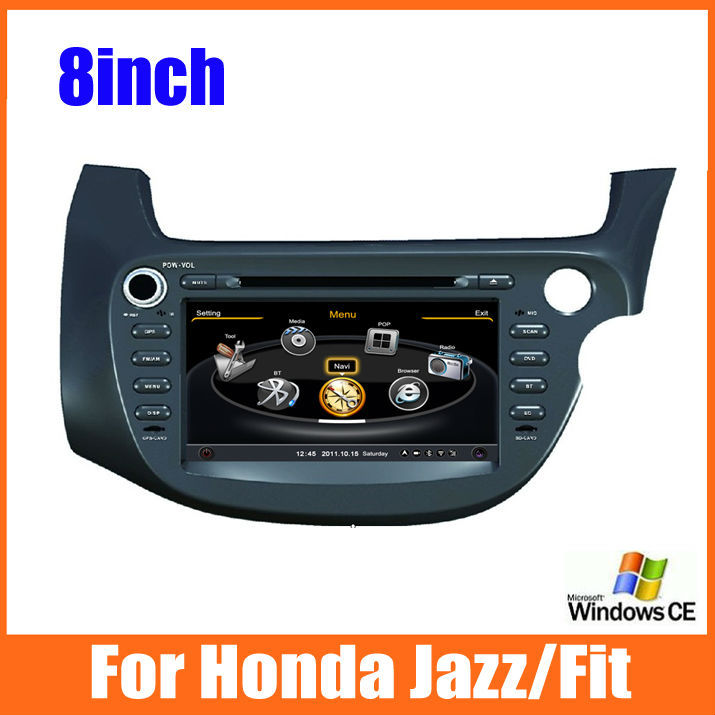 car dvd player for Honda Jazz/Fit right hand drive radio GPS stereo BT Car audio steering wheel control+free map +camera(China (Mainland))
