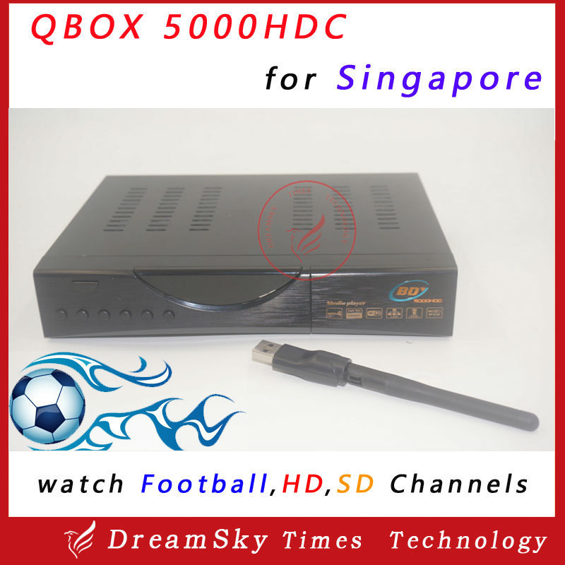 High Quality Qbox 5000HDC Singapore Starhub HD Cable TV box Receiver +wifi adapter(China (Mainland))