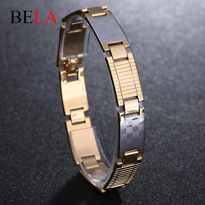 New 2015 Wristband Men's Bracelet Men Steel Bangle Gold Bracelet Hand Chain Bracelet For Men MS4062(China (Mainland))