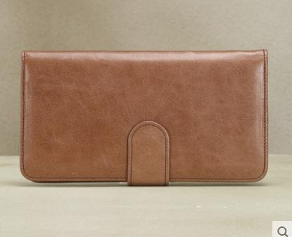 European and American fashion retro range of leather ladies clutch first layer of wax leather wallet in the long section(China (Mainland))