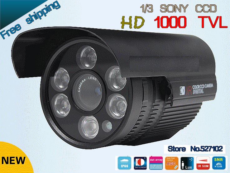 "Free shipping 2015 NEW 1/3"" SONY CCD HD 1000TVL Waterproof Outdoor security camera IR 100 meter CCTV Camera(China (Mainland))"