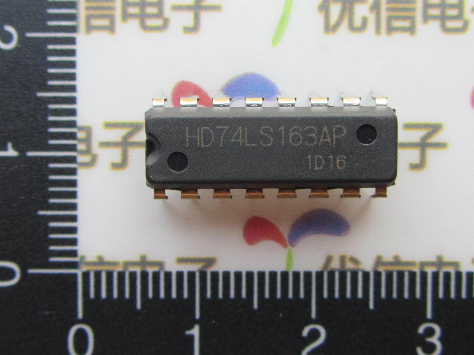 Line 74LS163 may be a four-bit binary synchronous clear counter DIP-16(China (Mainland))