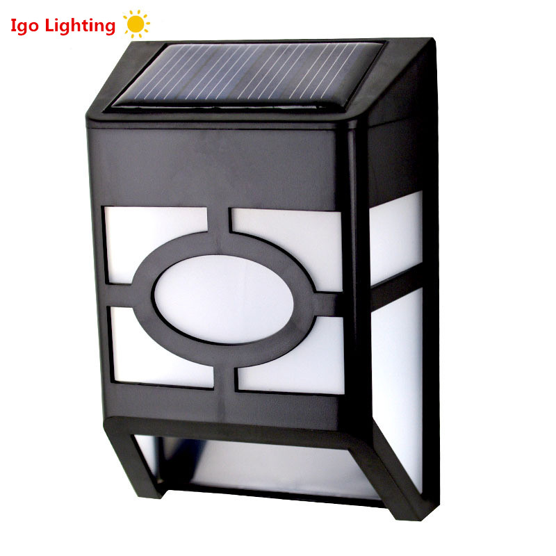solar powered led path fence lamp outdoor lighting solar wall light