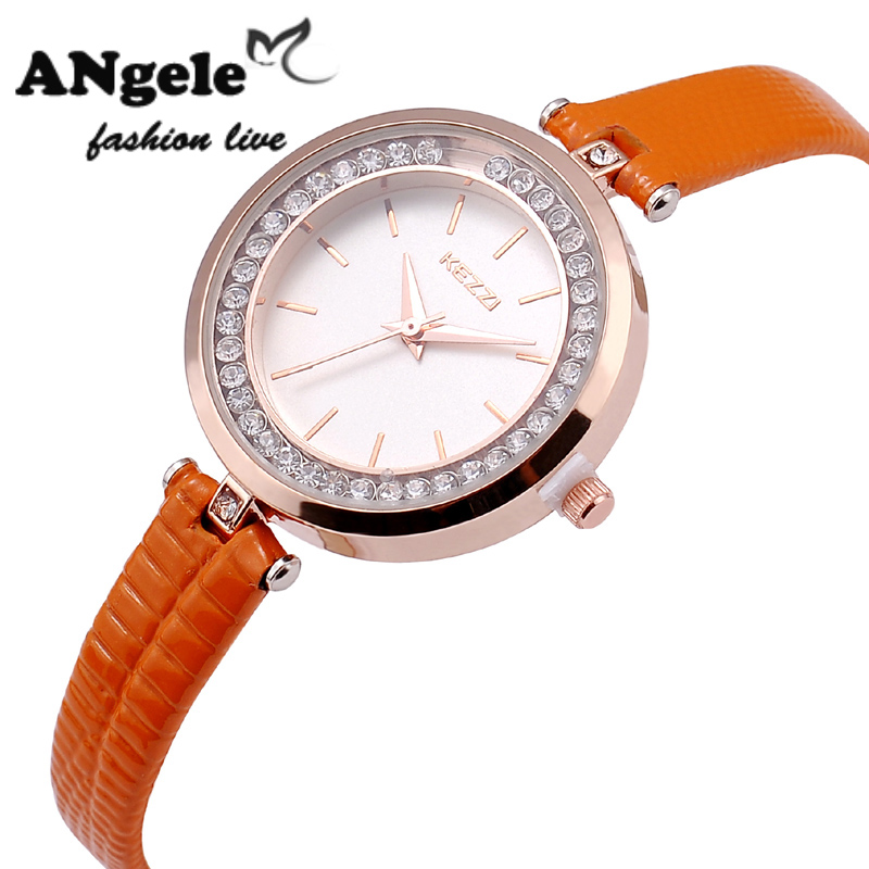 Hot Sale Water Resistant Brand Watches Luxury Analog Display Japan Movement Mobile Crystal Dial PU Band Quartz Watches For Women(China (Mainland))