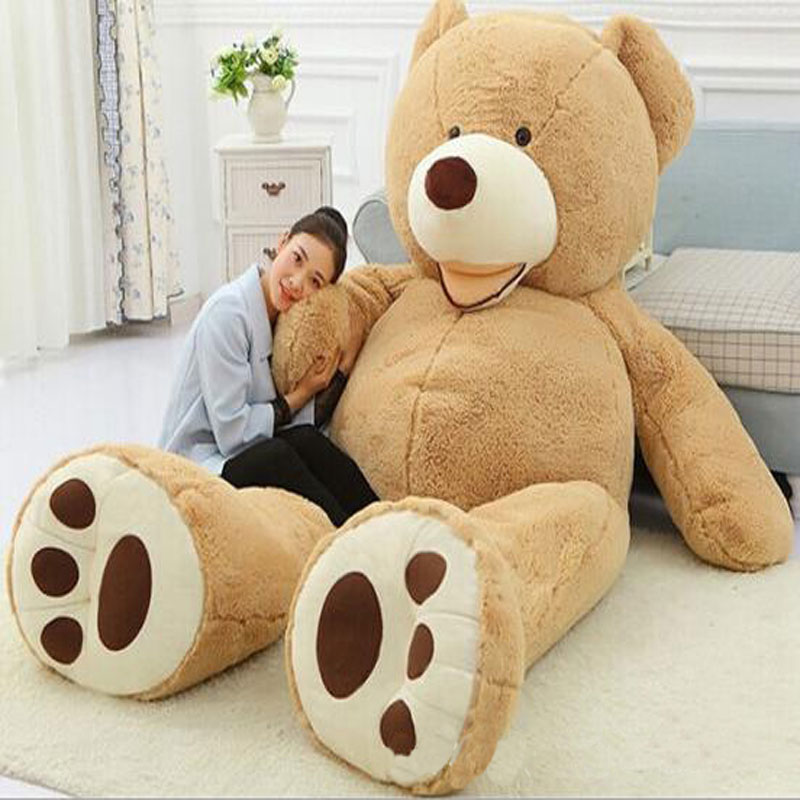 Huge Size 260cm Giant Bear Skin Empty Soft Huge Bear Toys Comfortabling Plush Valentine's Day Love Gifts Toys for Lovers(China (Mainland))