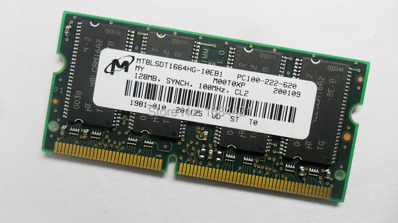 For Micron SD 128MB PC100 SDRAM notebook memory 144pin ram SODIMM computer Laptop(China (Mainland))