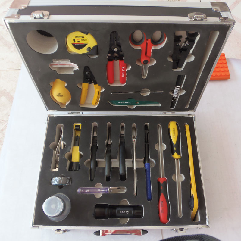 25class/bag HRP-25 Fiber optic cable construction toolbox FTTH Splice Kit Construction of fiber optic splice kit BY DHL(China (Mainland))