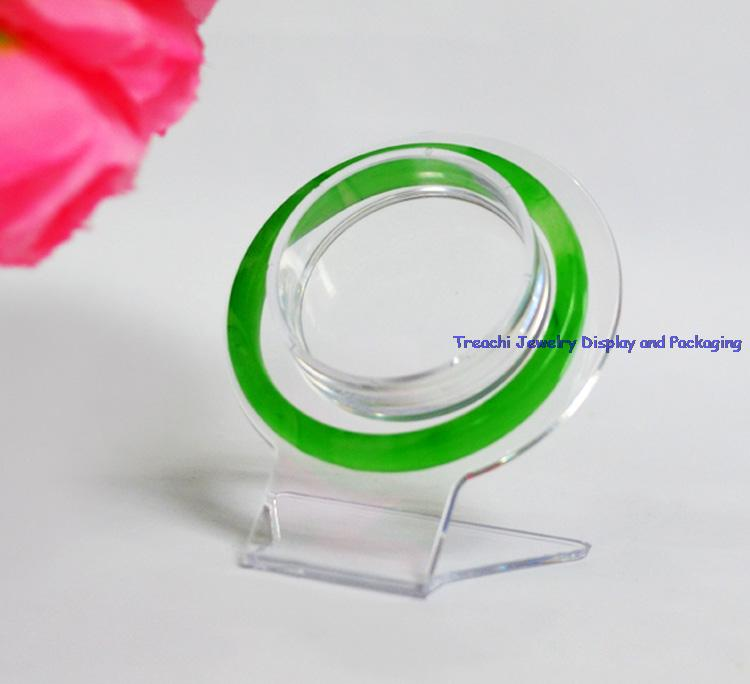Promotion Jewelry Display and Packaging Clear Plastic Bangle Display Stands For Bracelets Holder Board 3PCS(China (Mainland))