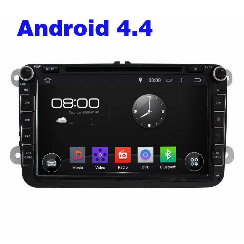 2din android 4.4 Wifi For vw car Audio dvd Player GPS For For VW MAGOTAN CADDY PASSAT TOURAN GOLF SKODA Seat(China (Mainland))