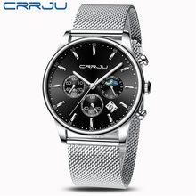 CRRJU Mannen Horloge Reloj Hombre 2019 Heren Horloges Topmerk Luxe Quartz Horloge Grote Wijzerplaat Sport Waterdicht Relogio Masculino Saat(China)