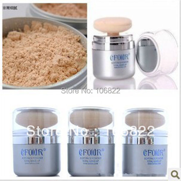 New Shimmer Pure Mineral Power Foundation 2 In 1 Sponge Facial Make-up Powder Free shipping(China (Mainland))