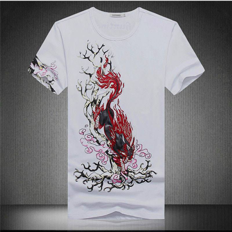 camisetas 2016 summer new men's physics shirt printing Chinese style round neck short sleeve T-shirt mens hemp shirts - LiXia Yu store
