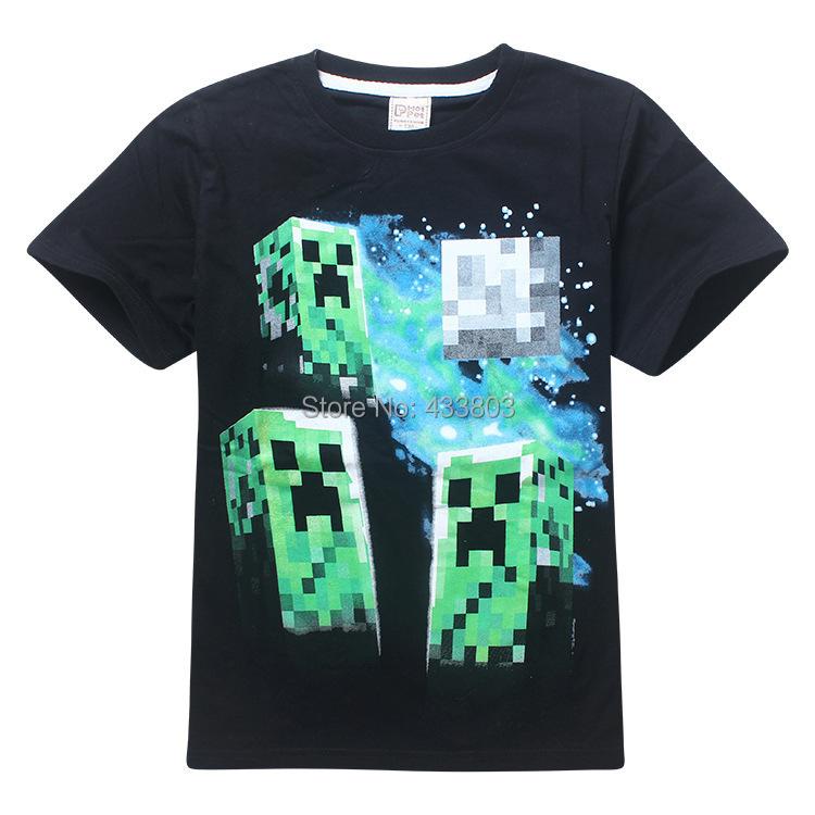 Wholesale 2015 Retail t-shirt kids robot t shirts children short sleeve boy summer t shirt black blue urban clothes 100% cotton(China (Mainland))