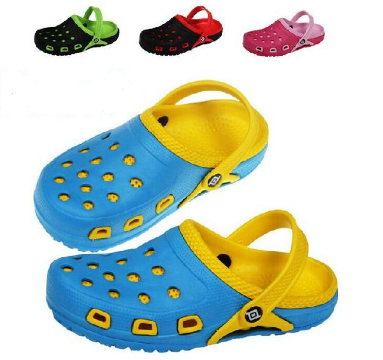 Hot Sale New 2015 Summer EVA High quality Breathable Children Shoes Hole Hole Sandals Boys Girls Slippers Kids Beach sandalias(China (Mainland))